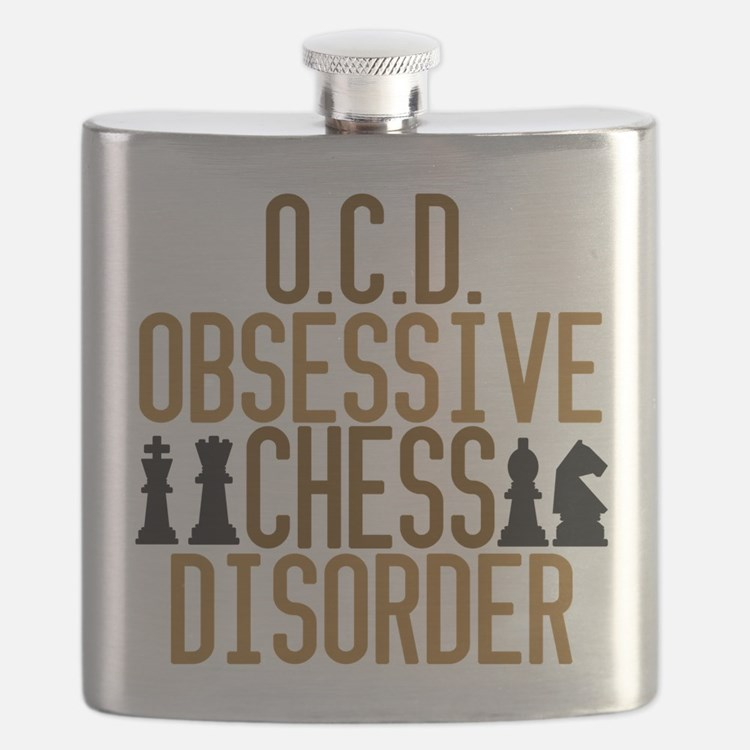 Funny Chess Addict Flask