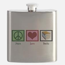 Peace Love Books Flask