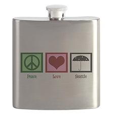 Peace Love Seattle Flask