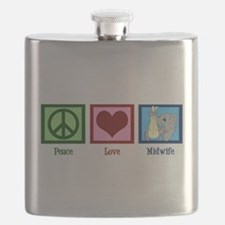 Peace Love Midwife Flask