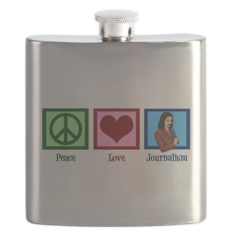 Peace Love Journalism Flask