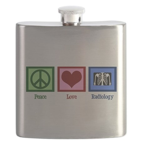 Peace Love Radiology Flask