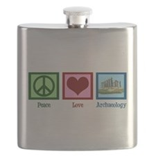 Peace Love Archaeology Flask