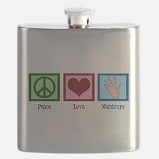 Peace Love Manicure Flask