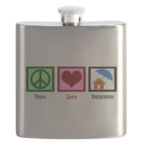 Peace Love Insurance Flask