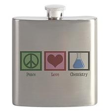 Peace Love Chemistry Flask