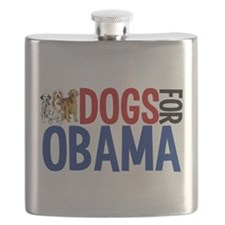 Dogs for Obama Flask