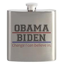 Obama Biden Change Flask