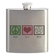 Peace Love Wicca Flask