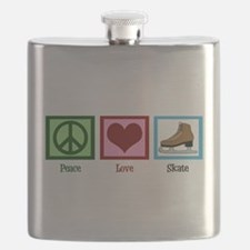 Peace Love Ice Skating Flask