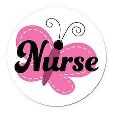 School Nurse Stethoscope Round Car Magnet