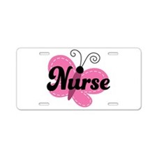 School Nurse Stethoscope Aluminum License Plate