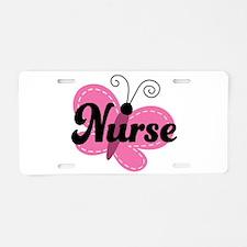 School Nurse Stethoscope Aluminum License Plate