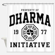 Dharma Initiative Shower Curtain