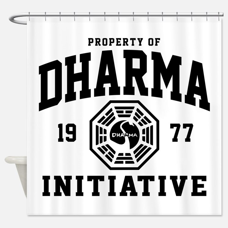Dharma Initiative Shower Curtain