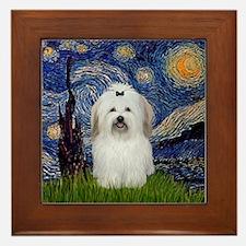 Starry Night Coton Framed Tile