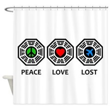 Peace Love LOST Shower Curtain