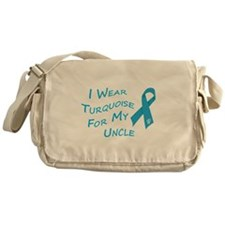 I Wear Turquoise for My Uncle Messenger Bag