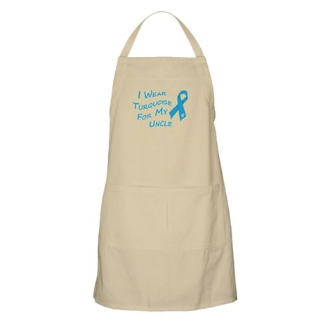 I Wear Turquoise for My Uncle Apron