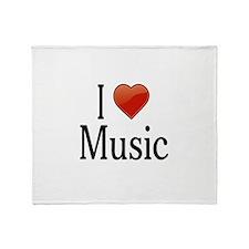 I Love Music Throw Blanket