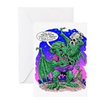 Cthulhu Does Hamlet Greeting Cards (Pk of 10)