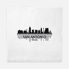 San Antonio Skyline Queen Duvet