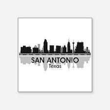 """San Antonio Skyline Square Sticker 3"""" x 3"""""""
