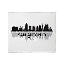 San Antonio Skyline Throw Blanket