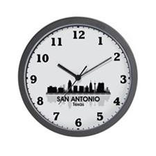 San Antonio Skyline Wall Clock