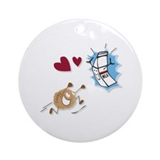 Milk and Cookies Ornament (Round)