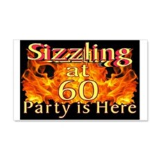 Sizzling at 60 Party Wall Decal