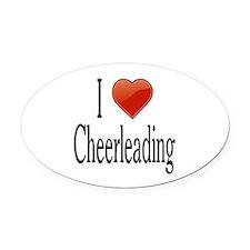 I Love Cheerleading Oval Car Magnet
