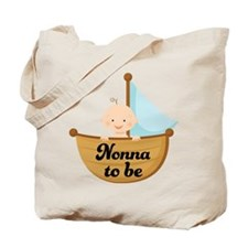 Nonna To Be Sailboat Tote Bag