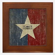 Vintage San Antonio Flag Framed Tile