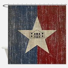 Vintage San Antonio Flag Shower Curtain