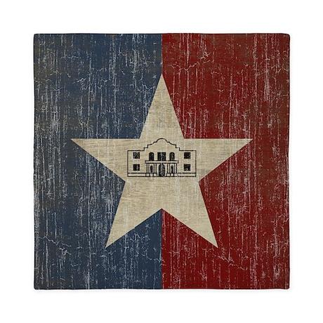 Vintage San Antonio Flag Queen Duvet