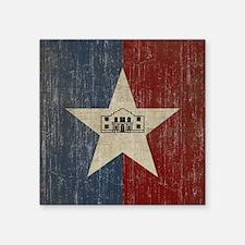 """Vintage San Antonio Flag Square Sticker 3"""" x 3"""""""