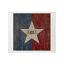 Vintage San Antonio Flag Throw Blanket