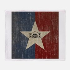 Vintage San Antonio Flag Throw Blanket