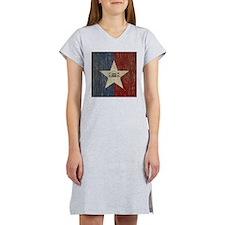 Vintage San Antonio Flag Women's Nightshirt