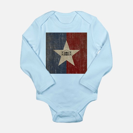 Vintage San Antonio Flag Long Sleeve Infant Bodysu