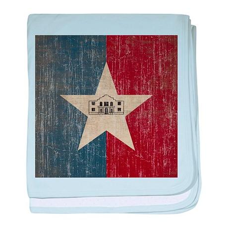 Vintage San Antonio Flag baby blanket