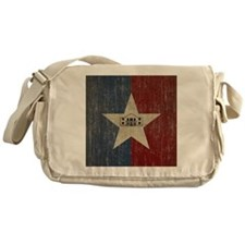 Vintage San Antonio Flag Messenger Bag