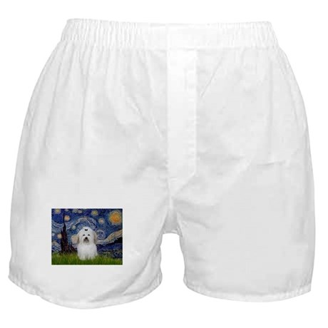 Starry Night Coton Boxer Shorts