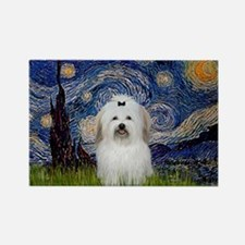 Starry Night Coton Rectangle Magnet