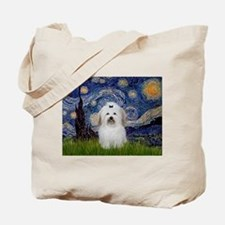 Starry Night Coton Tote Bag