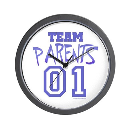 Team Parents Wall Clock