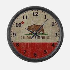 Cute California republic Large Wall Clock