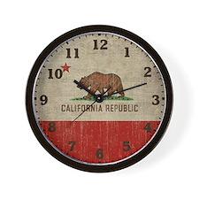 Cute Republic of california Wall Clock