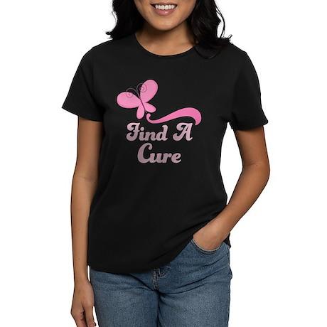 Find A Cure Breast Cancer Women's Dark T-Shirt
